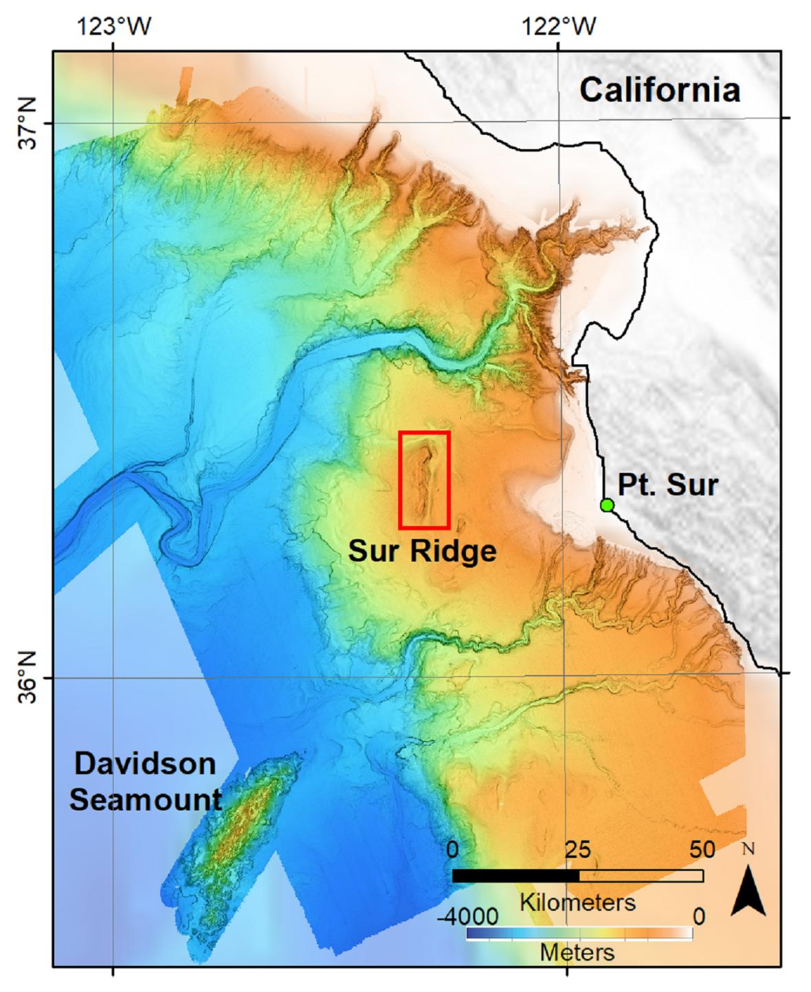 Mapa Sur Ridge