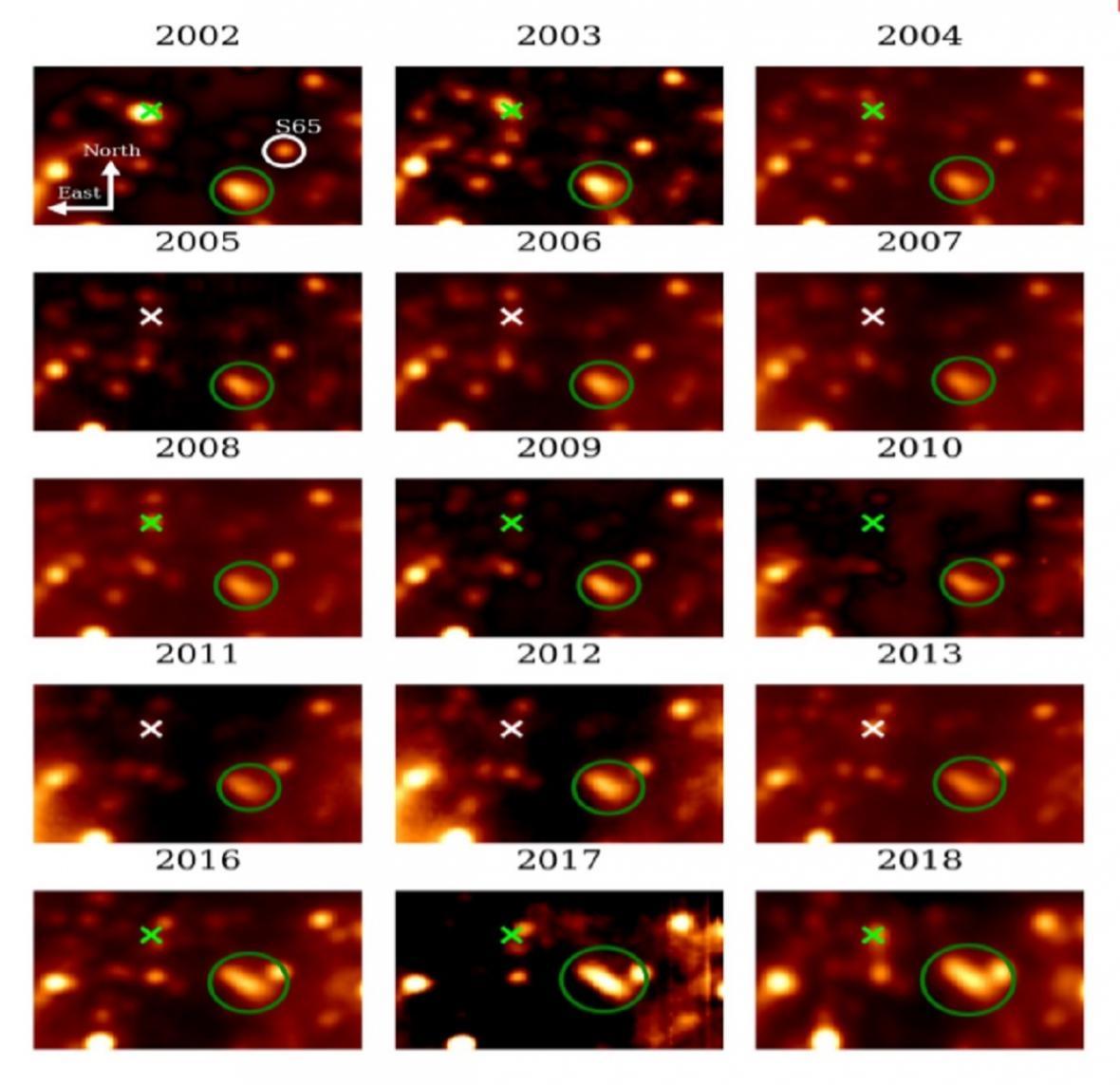 Změna hvězdy u černé díry