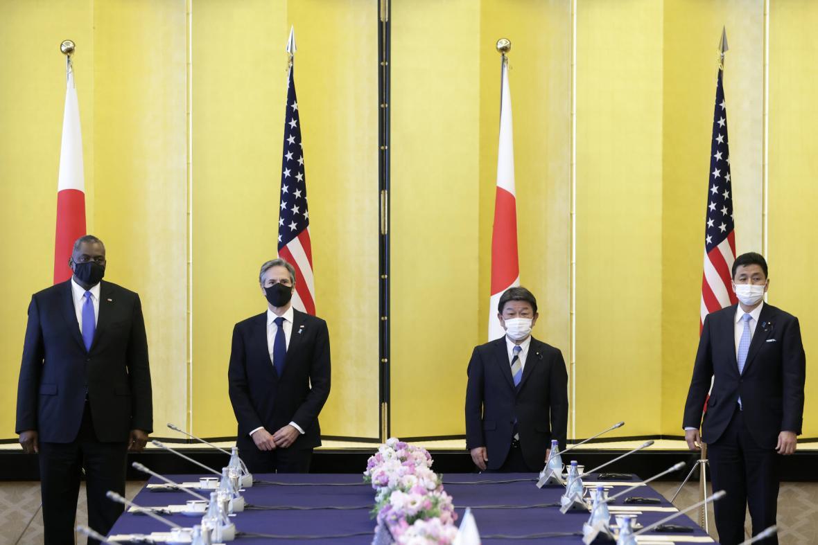 Schůzka amerických a japonských členů vlády