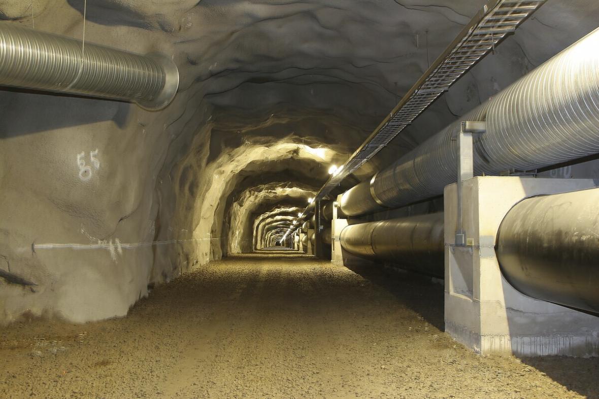 Tunel propojujíci ostrov Suomenlinna s pevninou