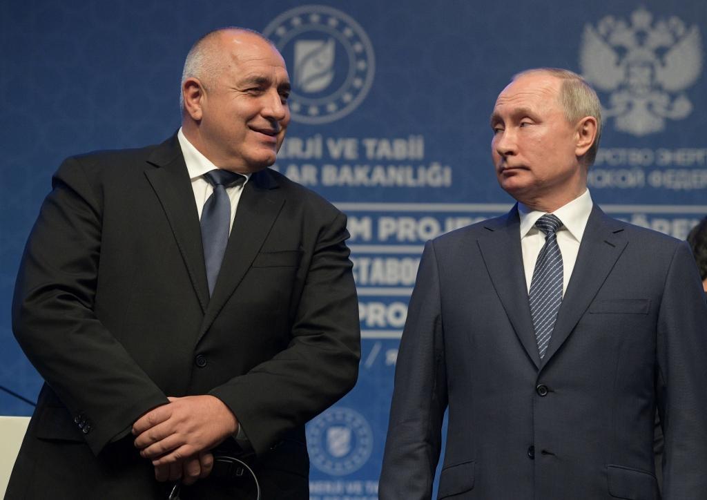 Bojko Borisov s ruským prezidentem Vladimirem Putinem při slavnostním zprovoznění nového plynovodu TurkStreamv Istanbulu