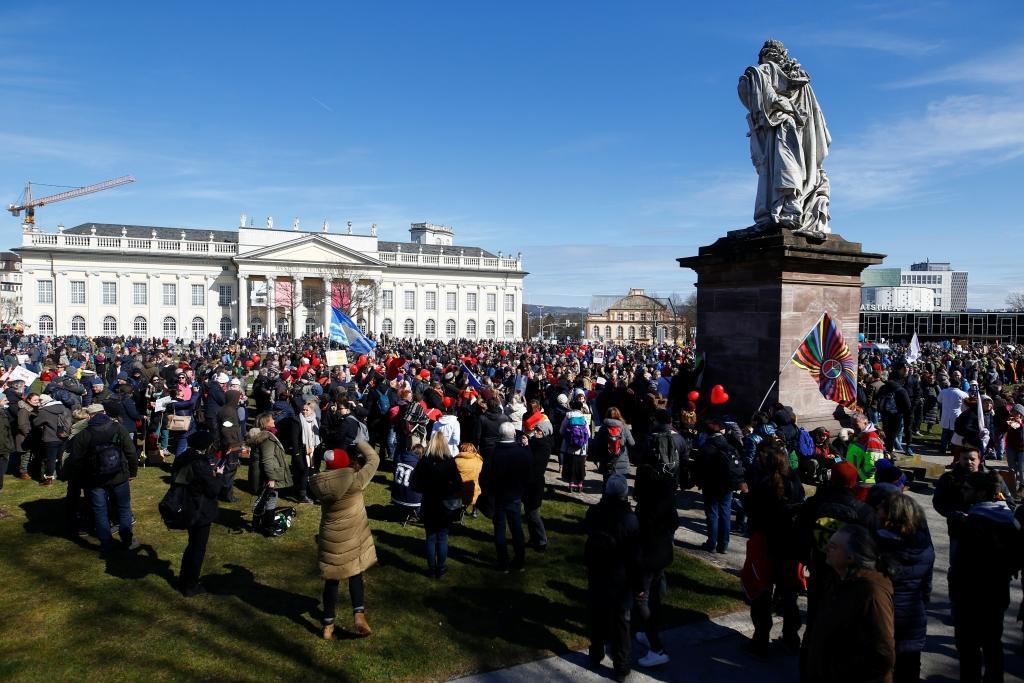 Protivládní protest v Kasselu