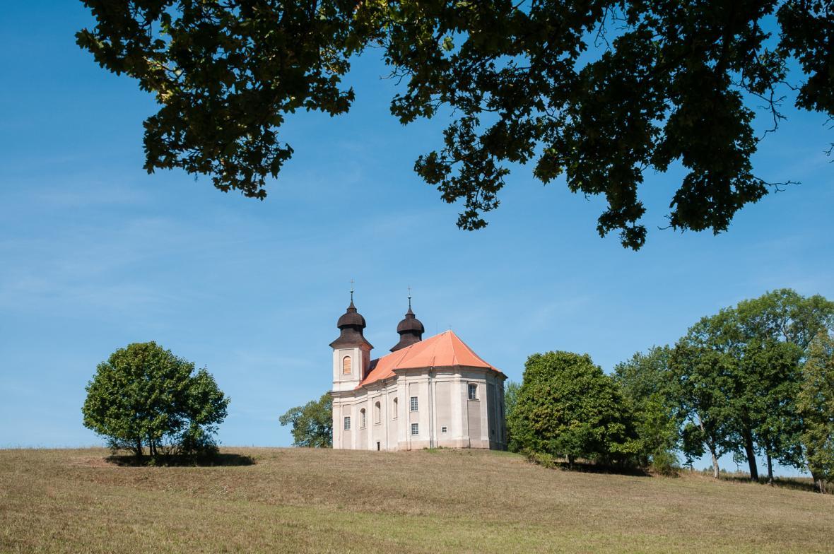 Kostel svaté Markéty v Šonově na Broumovsku od Kiliána Ignáce Dientzenhofera