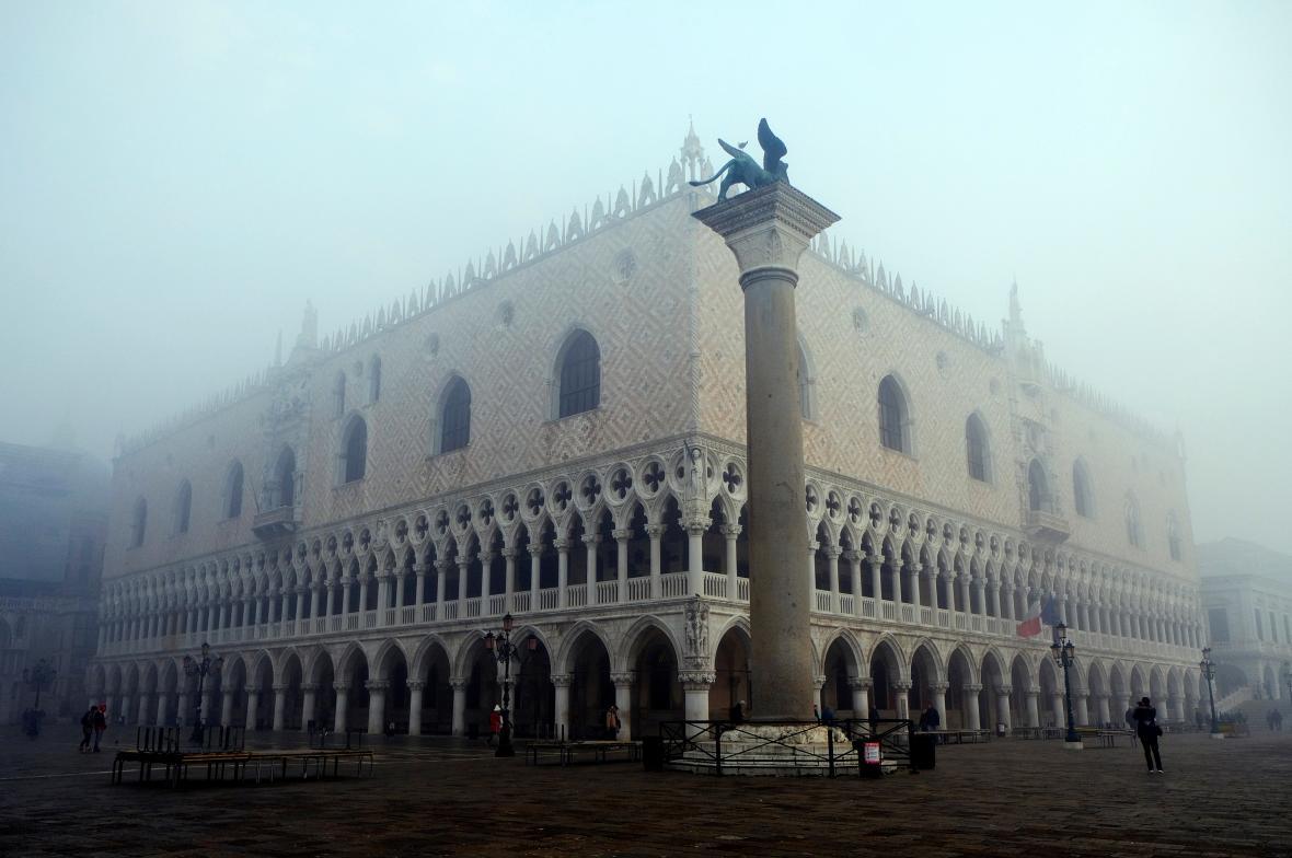 Dóžecí palác na náměstí svatého Marka v Benátkách