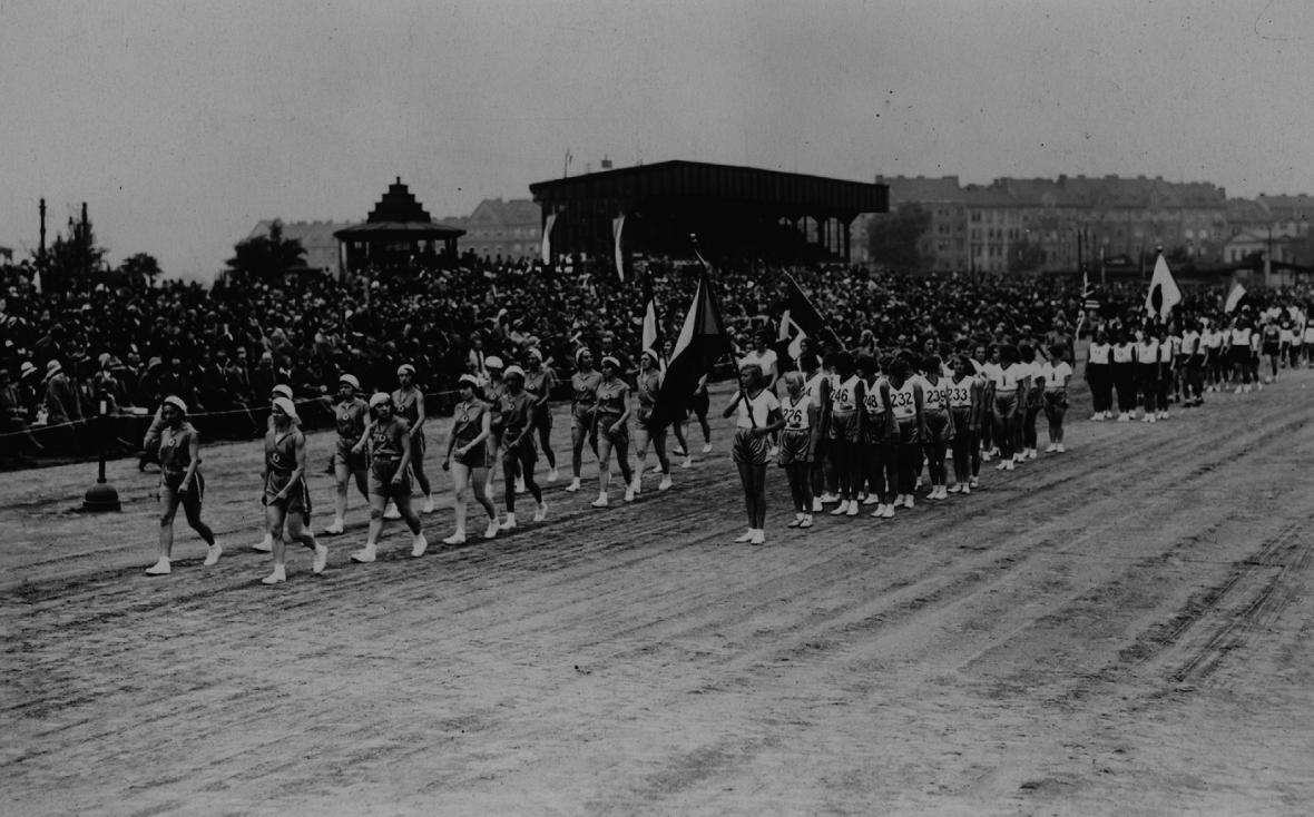 Slavnostní zahájení III. světových ženských her 1930 v Praze