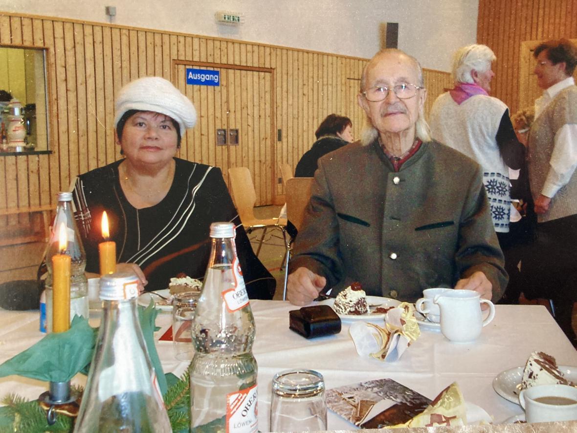 Marta Zápotočná a Adolfem Linkou v Německu