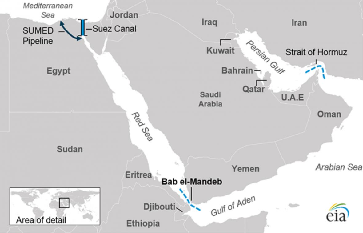 Průlivy a průplavy na Blízkém východě