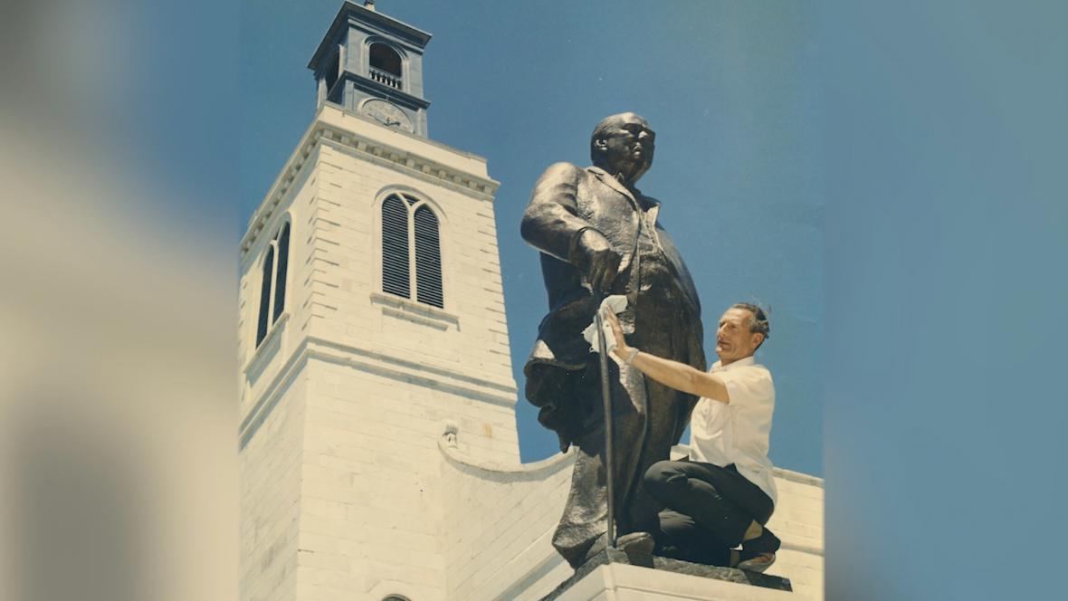 Churchillova socha od Franty Bělského