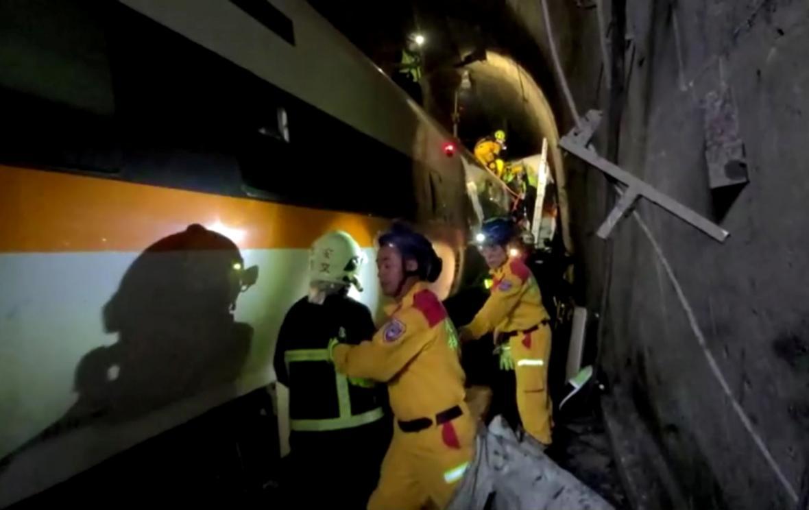 Tragická nehoda vlaku na Tchaj-wanu