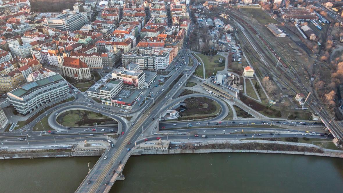 Oblast kolem metra Vltavská