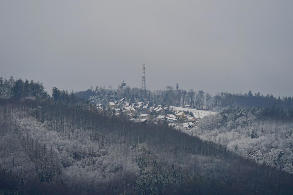 Studená fronta přinesla do Blanska ochlazení a sníh