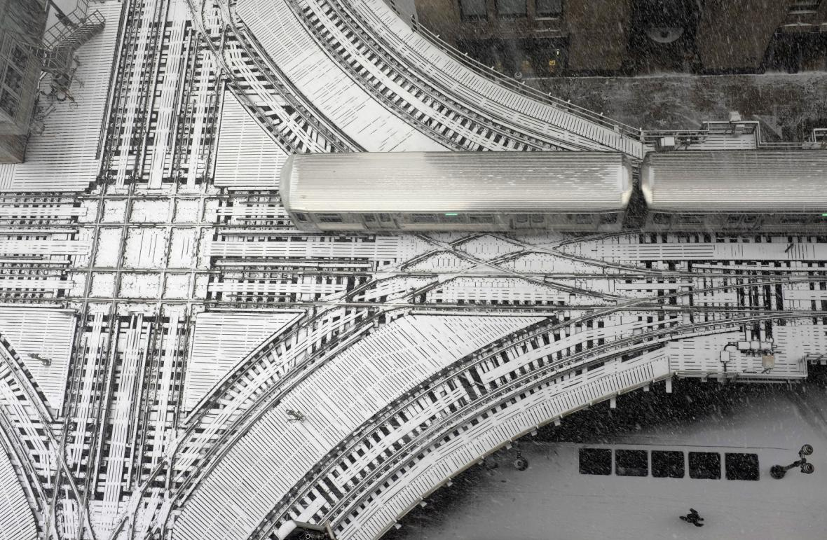 Křížení nadzemních tratí chicagského metra