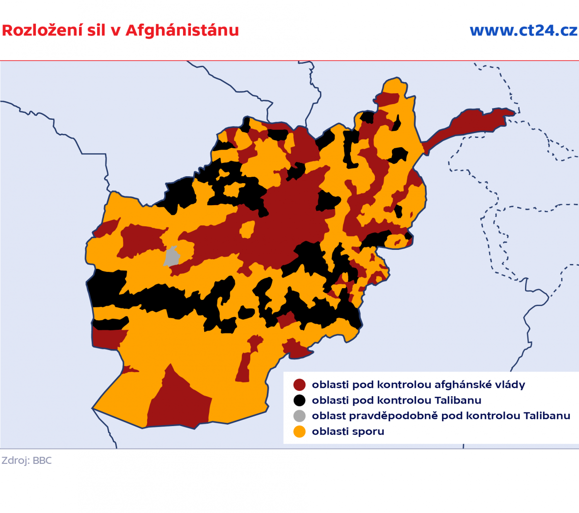 Rozložení sil v Afghánistánu