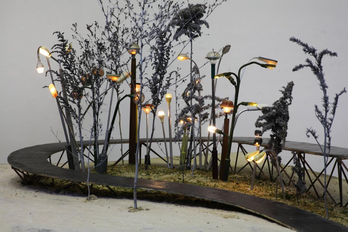 Vizualizace Botanické zahrady veřejného osvětlení