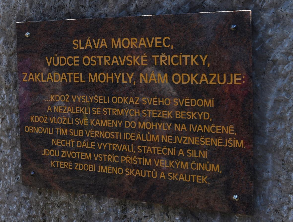 Vzkaz Slávy Moravce u mohyly Ivančena