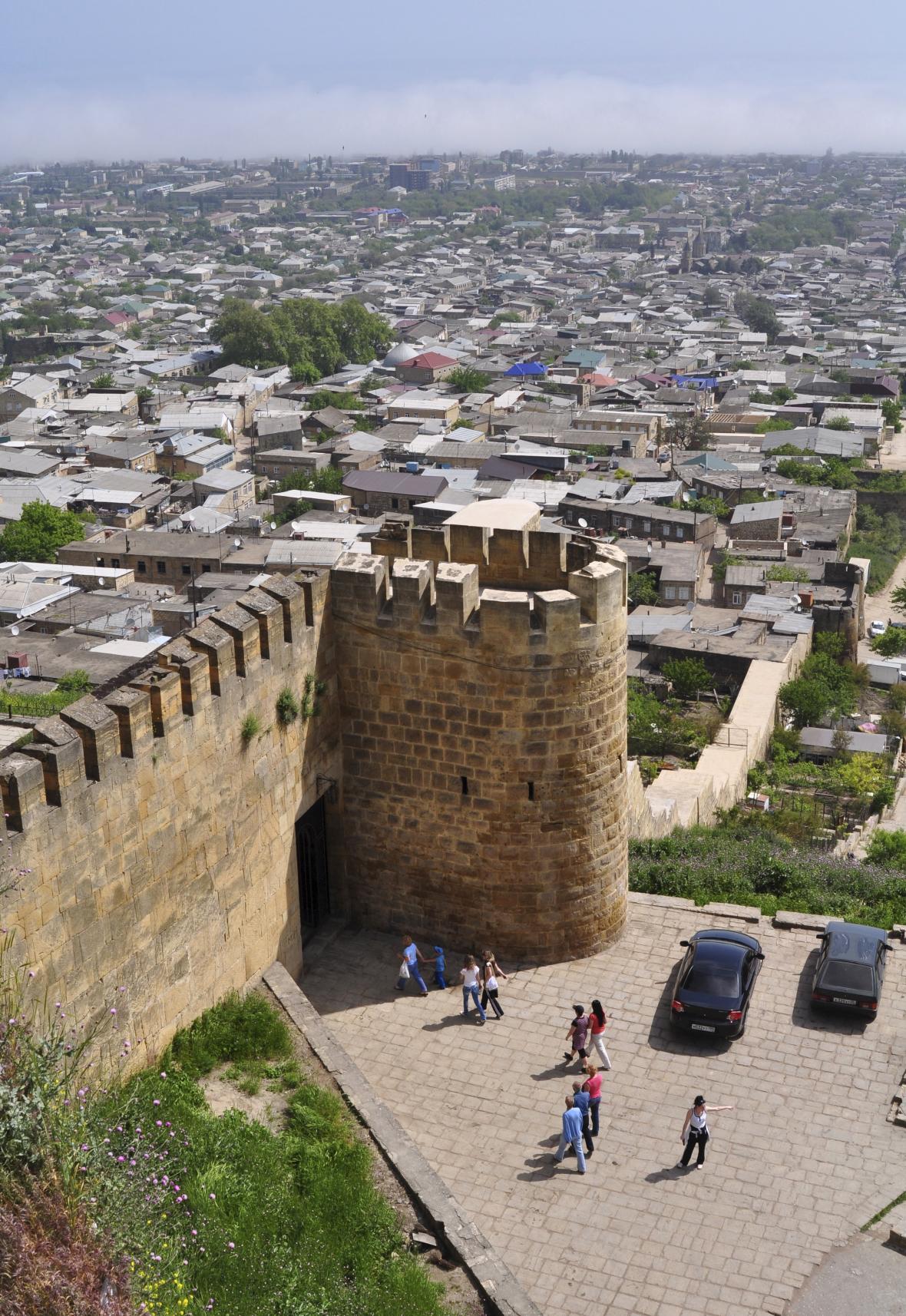Pevnost ve městě Derbent u Kaspického moře