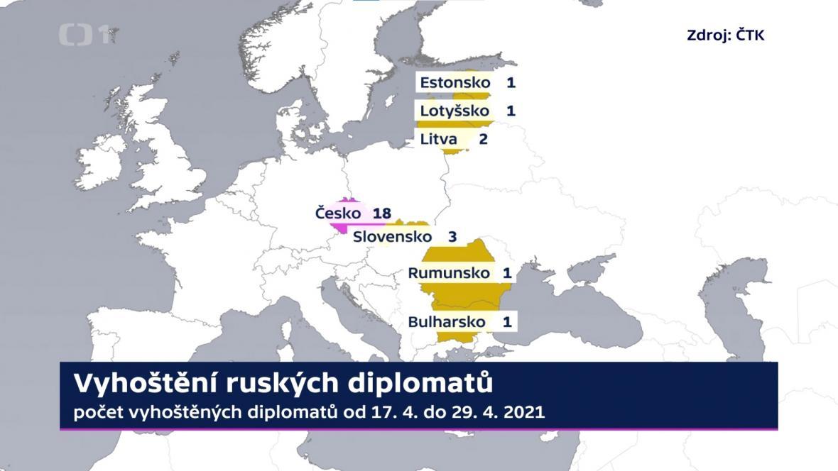 Vyhoštění ruských diplomatů do 29. dubna