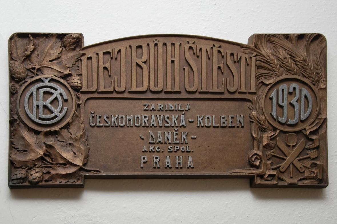 Litinová cedule Českomoravská Kolben Daněk Praha, ČKD 1930