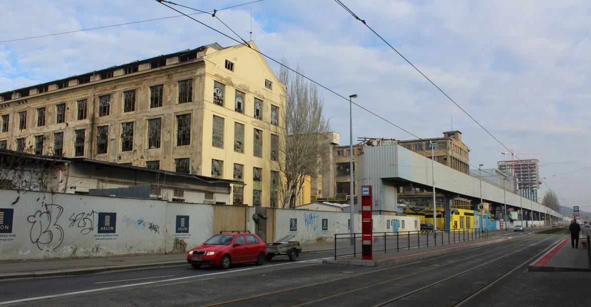 Bývalé tovární haly ČKD v Kolbenově ulici v Praze 9, které postavil Emil Kolben. Na smínku z 16.1. 2020