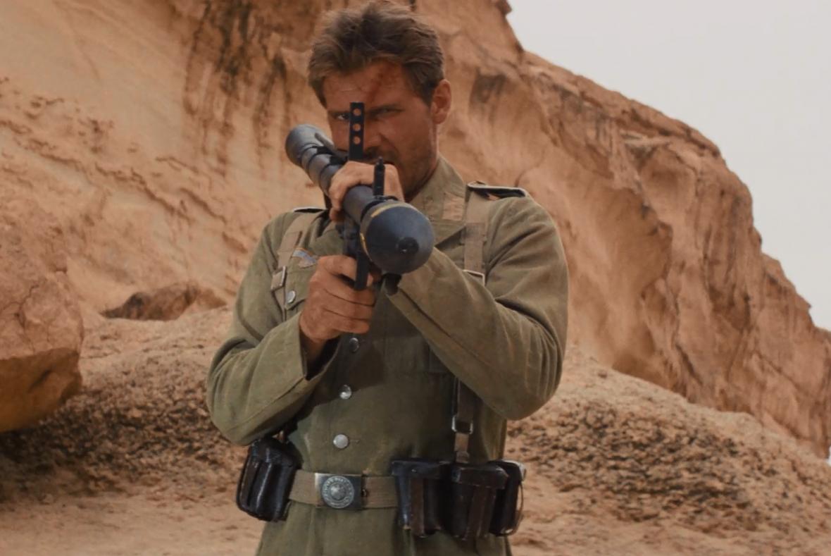 Harrison Ford jako Indiana Jones ve snímku Dobyvatelé ztracené archy