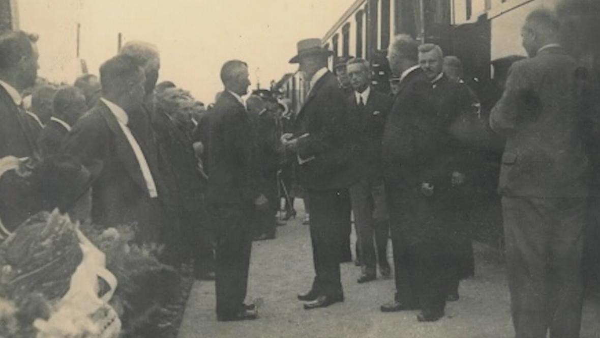 Návštěva T.G. Masaryka ve Veselí nad Moravou