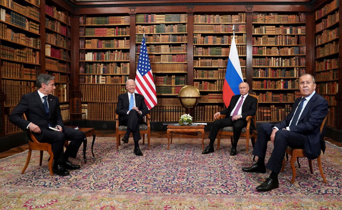 Jednání prezidentů a ministrů zahraničí USA a Ruska v Ženevě