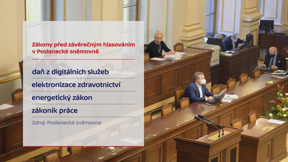 Zákony před závěrečným hlasováním v Poslanecké sněmovně