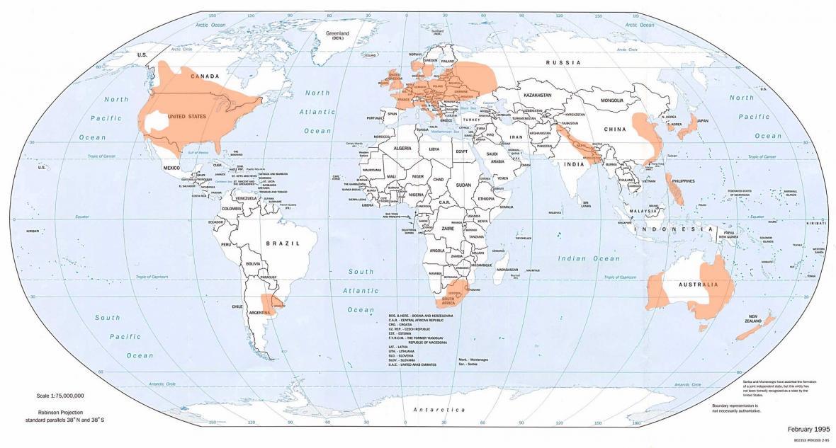 Místa, kde se nejčastěji objevují tornáda