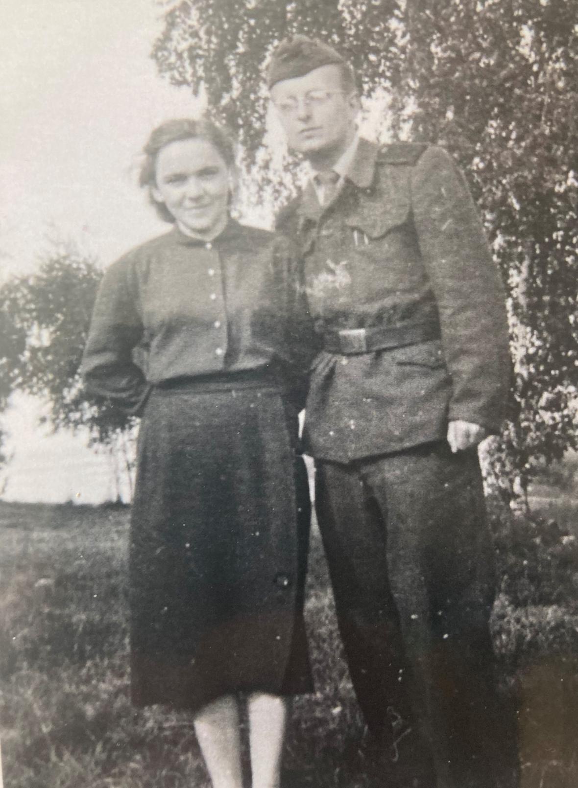 Ludmila Klukanová s manželem