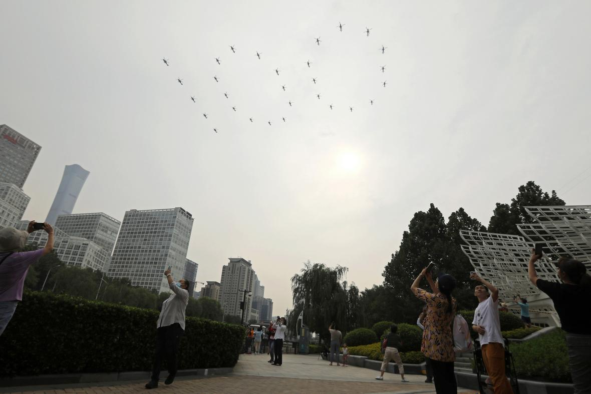 Oslavy v Pekingu