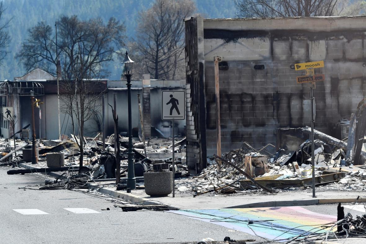 Město Lytton z velké části vyhořelo
