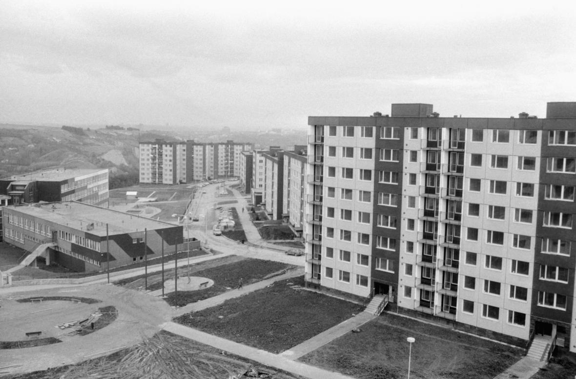 Sídliště Barrandov v roce 1987
