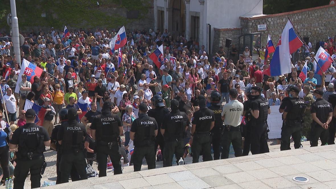 Protesty na Slovensku pokračují