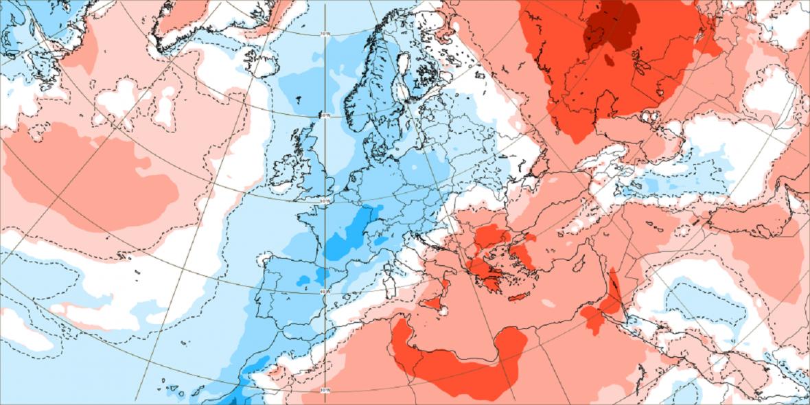 Až do 20. srpna budou teploty tak o jeden o dva stupně nižší než normálně