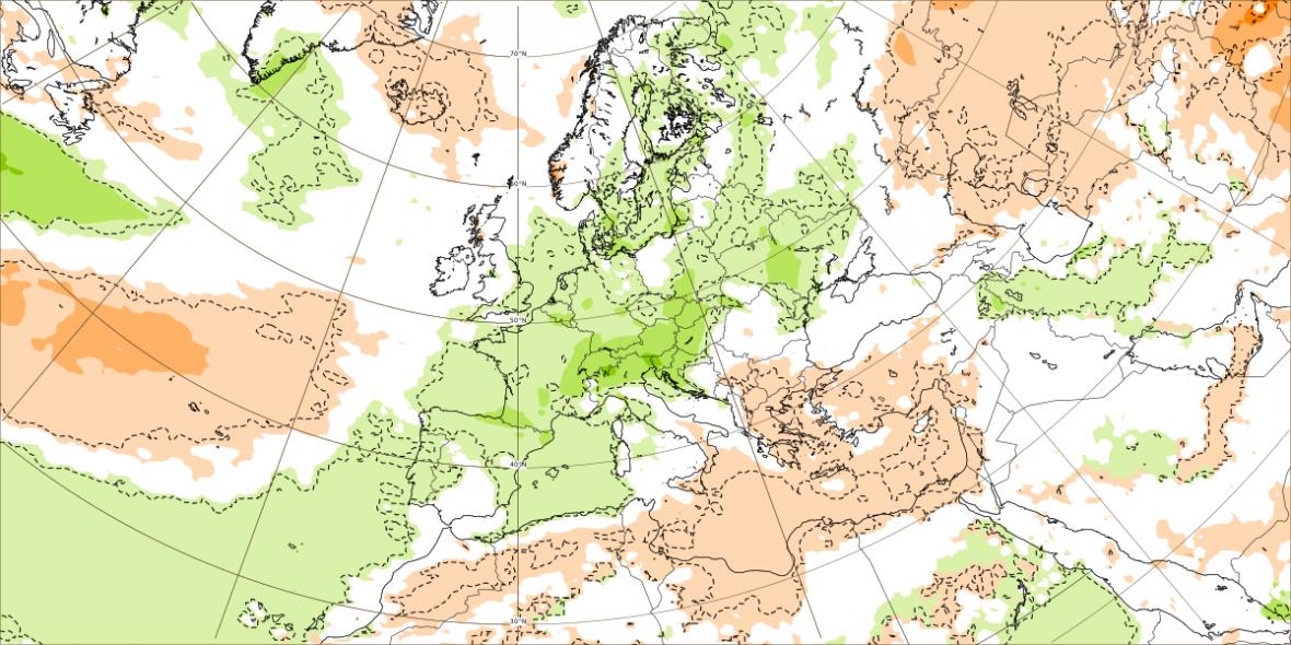 Zhruba do 10. srpna by mělo i nadprůměrně pršet.