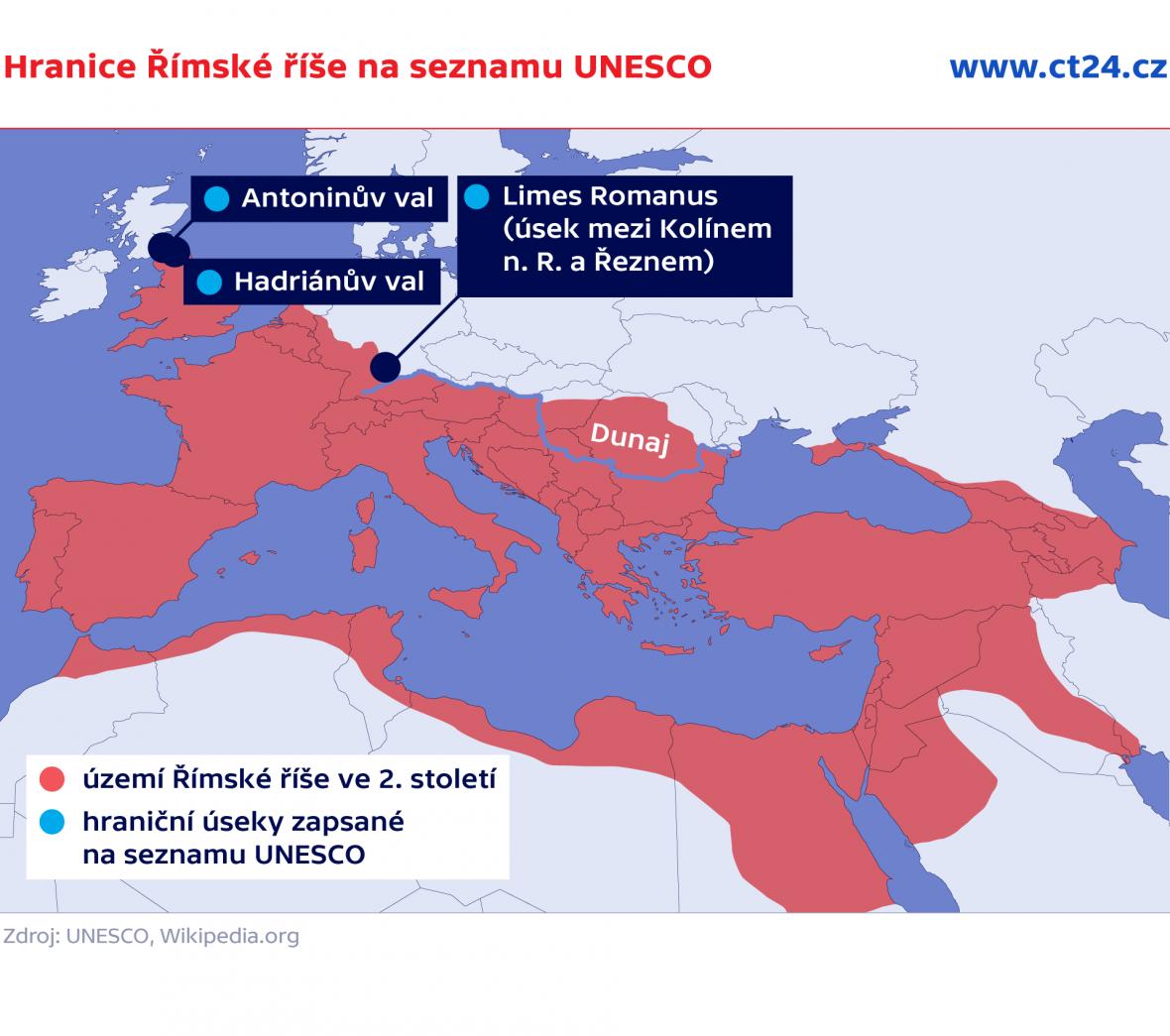 Hranice Římské říše na seznamu UNESCO