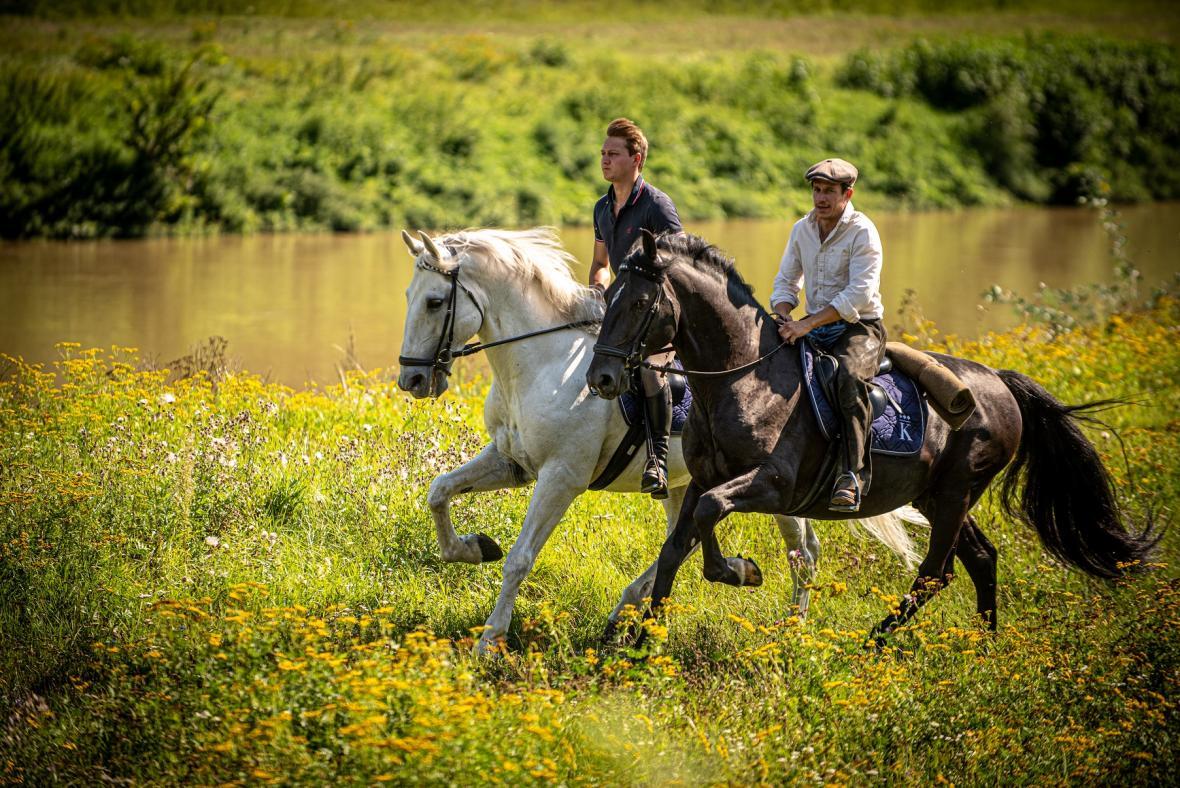 Bratři Krausovi v seriálu Českem na koňském hřbetu