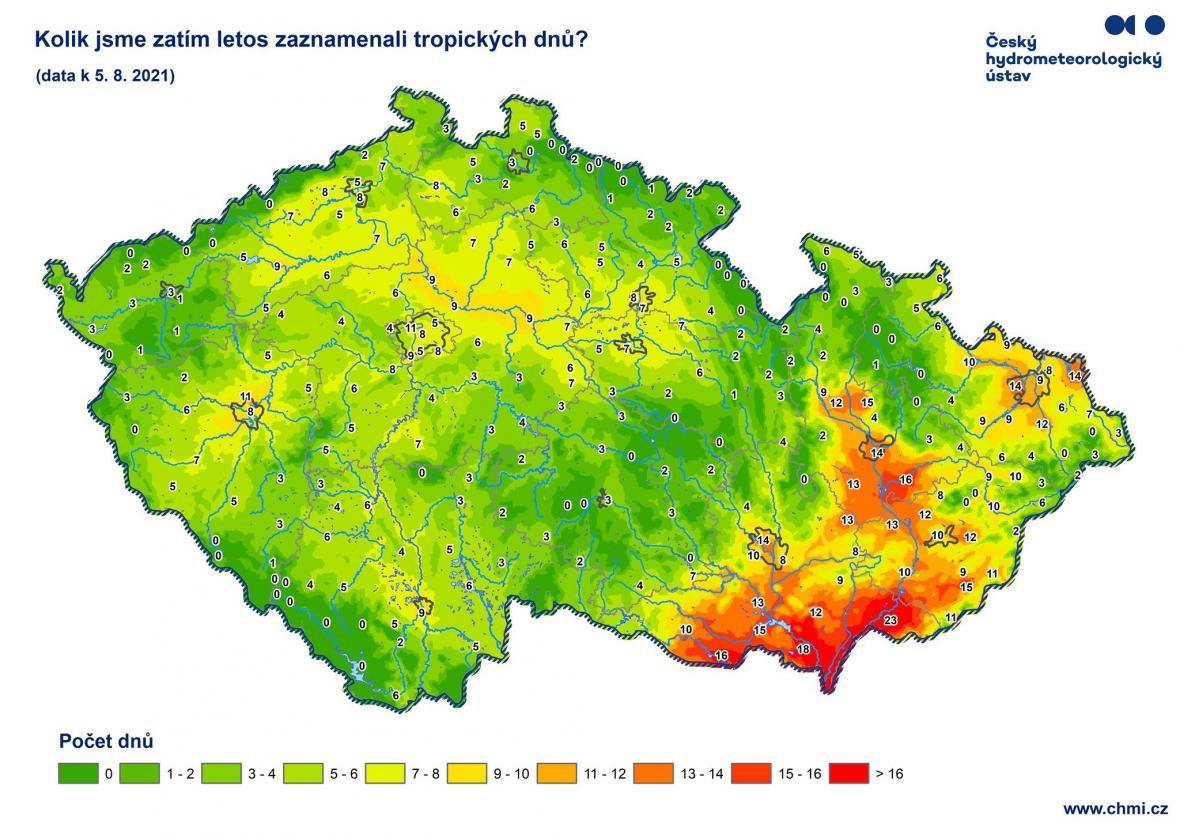 Tropické dny v ČR