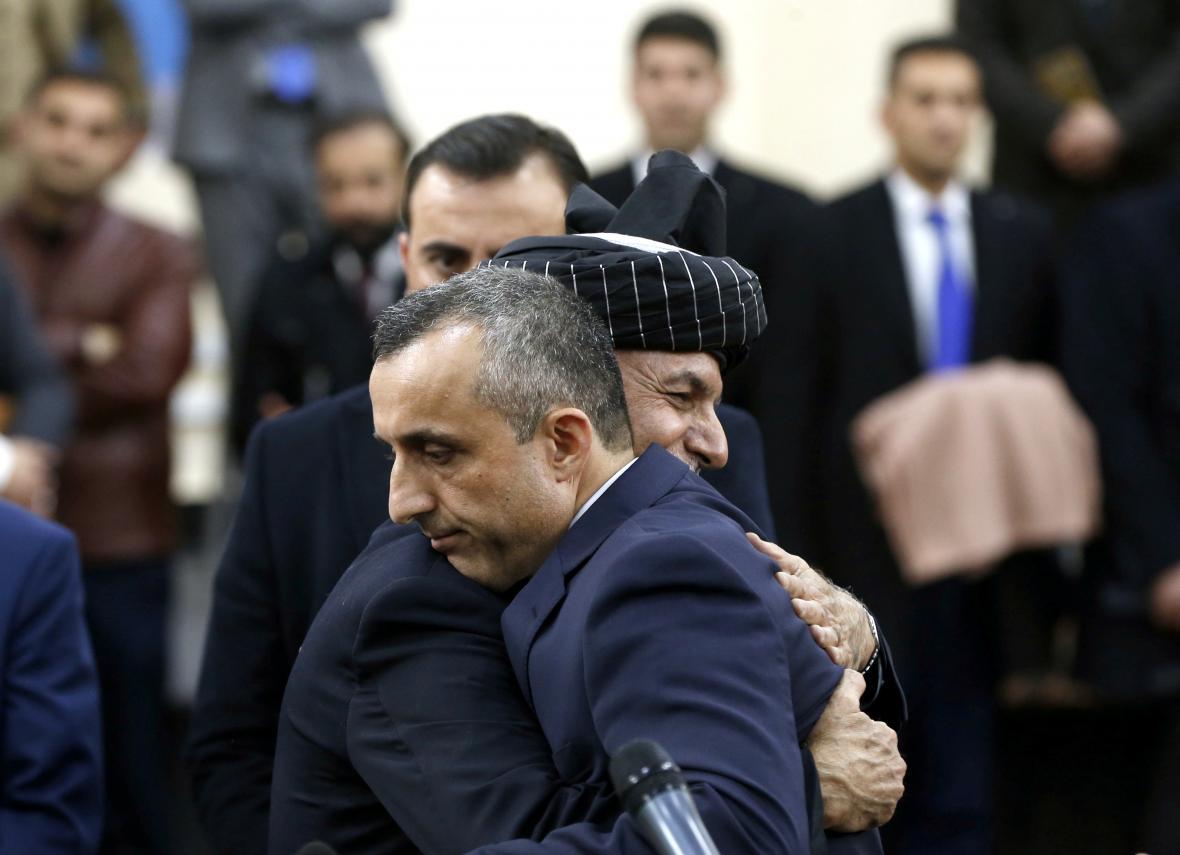 Amrulláh Sálih s prezidentem Ašrafem Ghaním