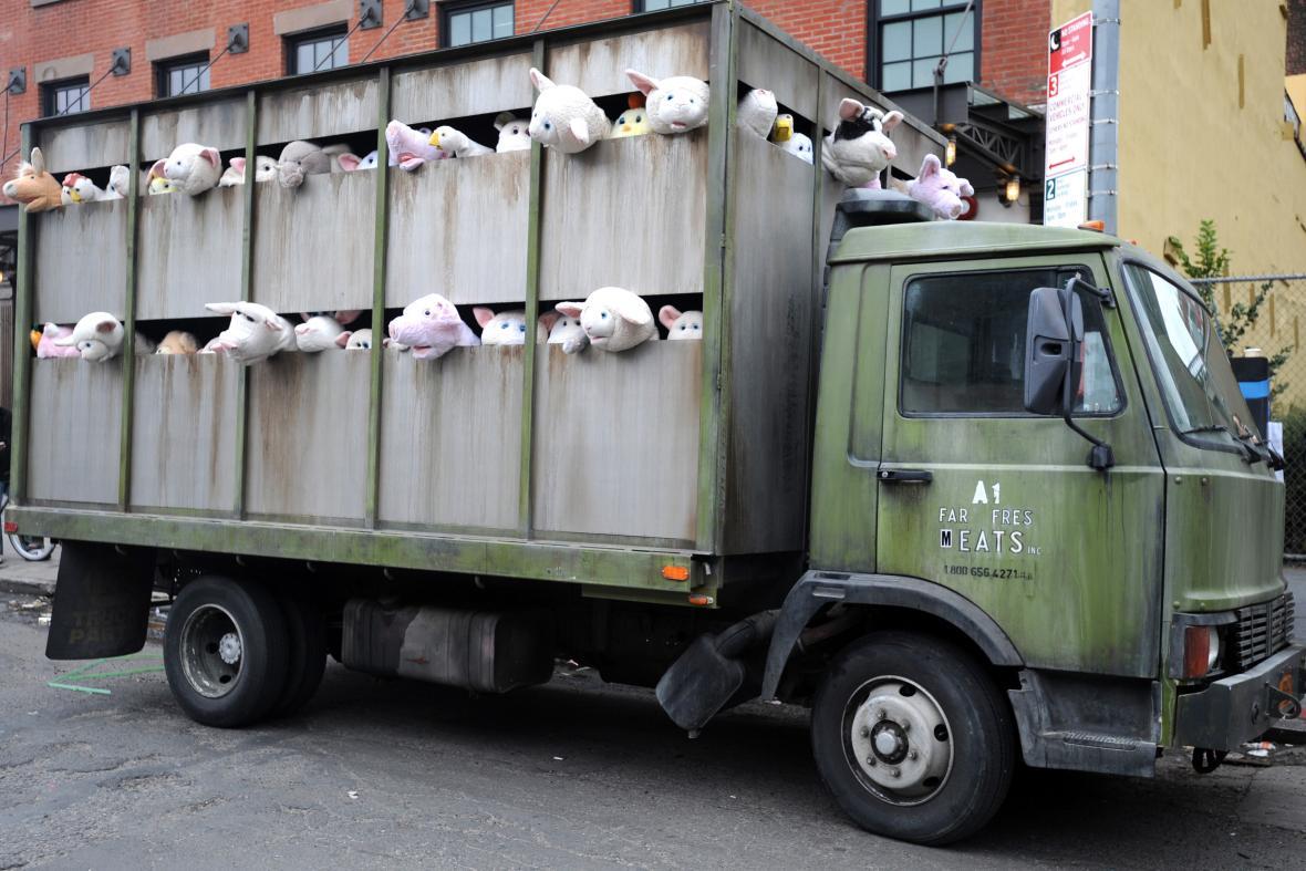 Banskyho instalace jatečních zvířat