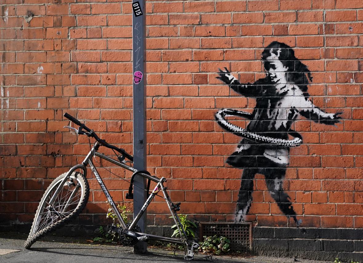 Banksyho graffiti v Nottinghamu