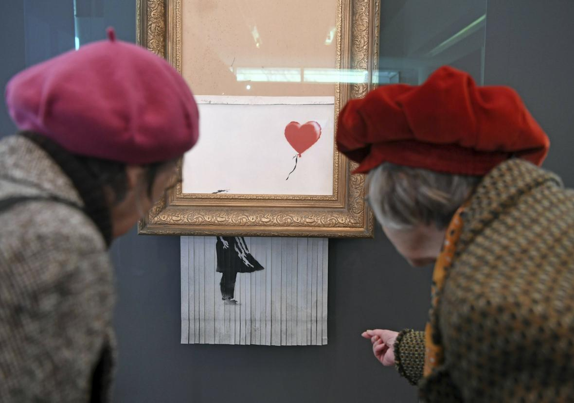 Skartovaný Banksyho obraz