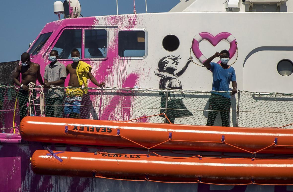 Loď sponzorovaná Banksym