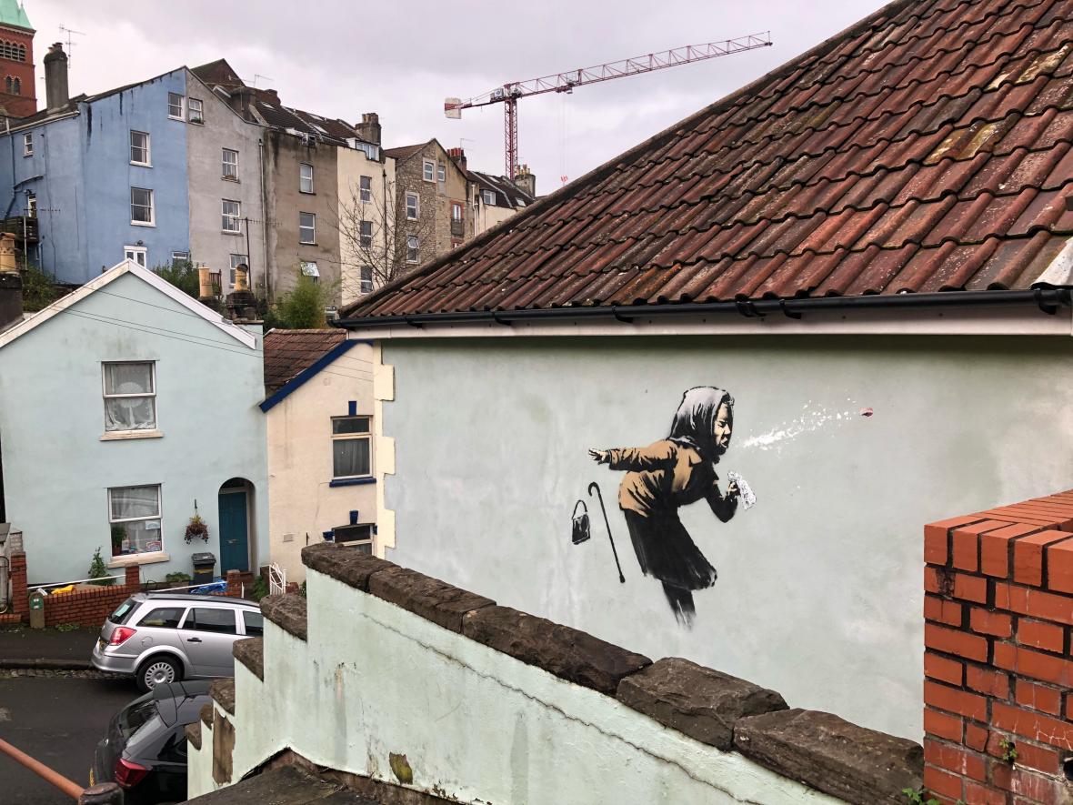 Banksyho graffiti v Bristolu