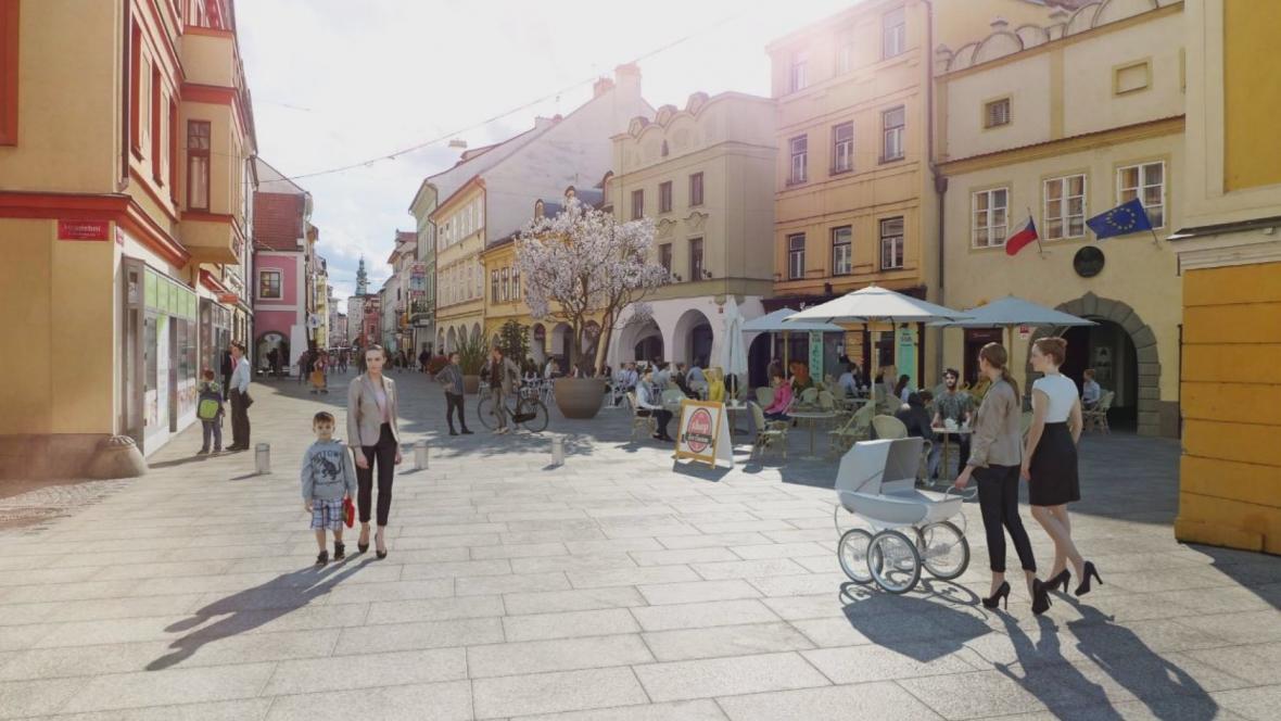 Vizualizace českobudějovické Krajinské ulice