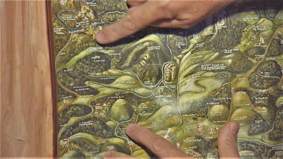 Rukopis obsahuje i mapy, řada zaznamenaných míst stále existuje