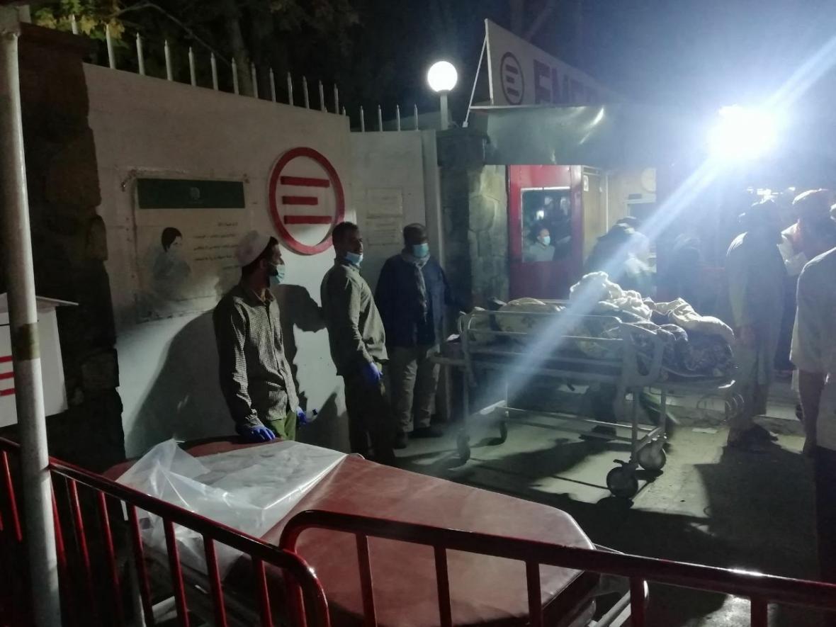 Vchod do nemocnice v Kábulu