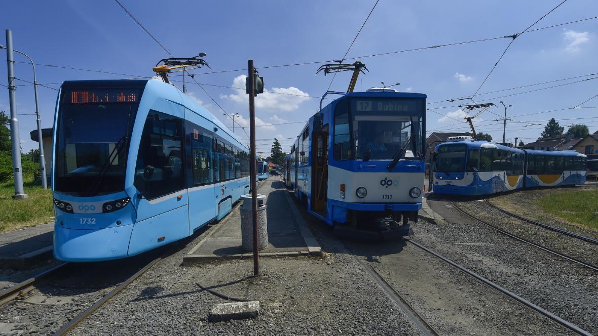 Tramvajová smyčka Vřesinská před rekonstrukcí