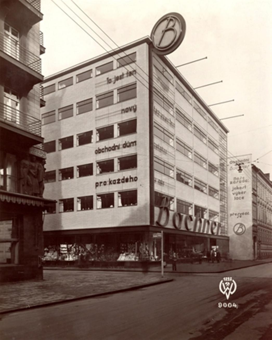 Obchodní dům Bachner (architekt: Erich Mendelsohn, 1932–33)