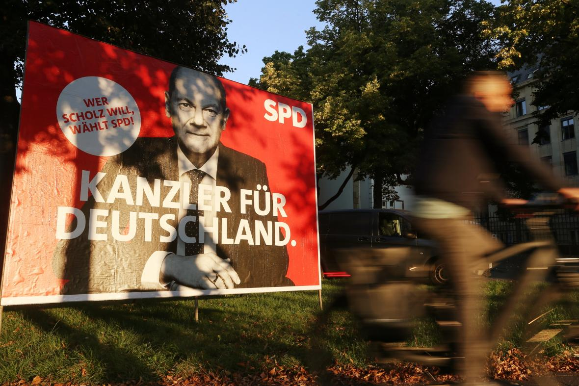 Německá SPD představila nový předvolební plakát